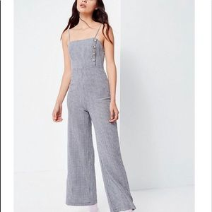 XS Urban Outfitters Straight Neck Linen Jumpsuit